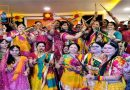 पारंपरिक मिथिला नृत्य झझिया और डांडिया के साथ मनाया गया नवरात्र मिलन समारोह